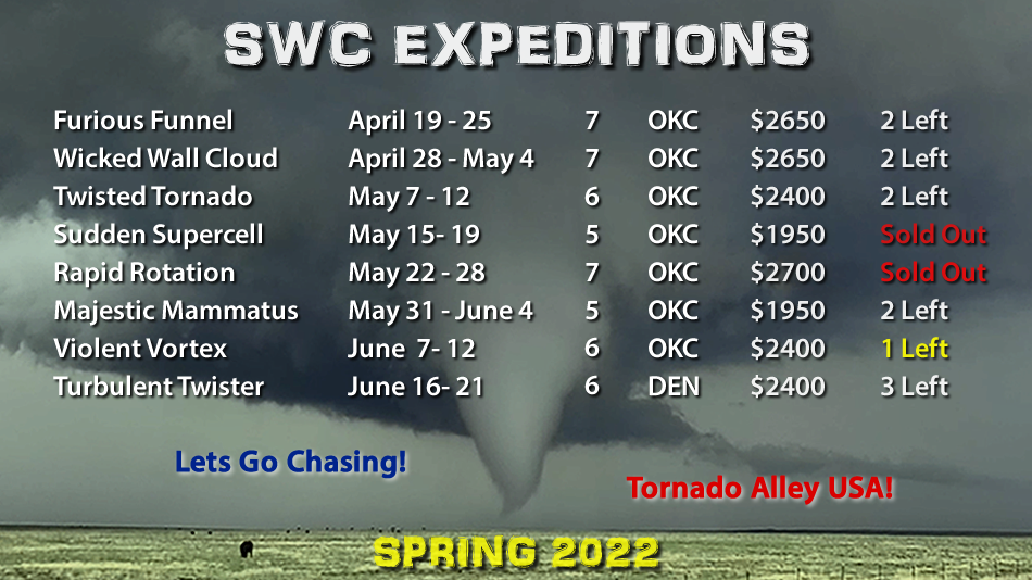 2022 Storm Chasing Tours SWC Expeditions